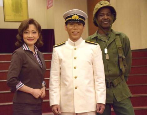 舞台『海に響く軍靴』制作発表会に出席した(左から)島田歌穂、HIDEBOH、Tamango (C)ORICON NewS inc.