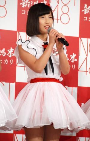 JA『新潟米×NGT48 新米収穫発表会』に出席したNGT48・佐藤杏樹 (C)ORICON NewS inc.