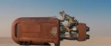 乗り物に乗っているのはデイジー・リドリー、役名は不明『Star Wars : The Force Awakens(原題)』(2015年12月18日公開)(C) Lucasfilm Ltd. & TM. All Rights Reserved.