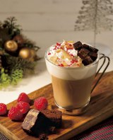 クリスマスケーキのようなドリンク『ドルチェ・ナターレ 〜チョコレート&フランボワーズ』