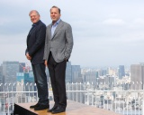47階で行われた記者会見に出席した(左から)ロバート・ゼメキス氏、ジャック・ラブキー氏 (C)ORICON NewS inc.
