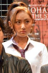 舞台『BIOHAZARD THE STAGE』の公開ゲネプロ前取材に出席した紗綾 (C)ORICON NewS inc.