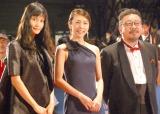 『第28回東京国際映画祭』のレッドカーペットに登場した(左から)橋本愛、竹内結子、中村義洋 (C)ORICON NewS inc.