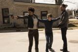 米ドラマ『HEROES Reborn/ヒーローズ・リボーン』エリカ(左:リア・キルステッド)、トミー(中央:ロビーケイ)、ルーク(右:ザカリー・リーヴァイ).JPG