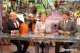 プロボクシング現役引退を発表したばかりの亀田興毅がフジテレビ系『ワイドナショー』にゲストコメンテーターとして緊急出演(左から)松本人志、亀田興毅、ヒロミ