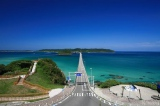 トリップアドバイザーがユーザーの声をもとに実施した「口コミで選ぶ日本の橋ランキング」で1位に輝いた角島大橋(山口県)