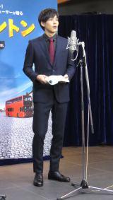 公開アフレコを行った松坂桃李=映画『パディントン』アフレコ会見 (C)ORICON NewS inc.
