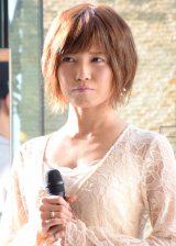 新曲「あなたと明日も feat. ハジ→&宇野実彩子(AAA)」の発売記念イベントを開催したAAAの宇野実彩子 (C)ORICON NewS inc.