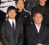 『劇場版 MOZU』ワールドプレミアイベントに出席した(左から)西島秀俊、ビートたけし (C)ORICON NewS inc.