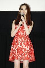 映画『劇場霊』のジャパンプレミアに出席したAKB48の島崎遥香