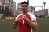 新企画「THEトライ〜1人で全員抜けるのか〜」に挑む、ラグビー日本代表・山田章仁選手(C)TBS