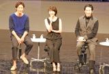 『あさが来た プレミアムトーク』イベントに登場した(左から)玉木宏、波瑠、ディーン・フジオカ (C)ORICON NewS inc.