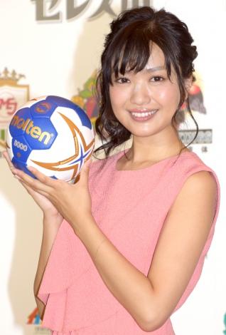 「ハンドボール・アンバサダー」を務めるNGT48・北原里英=『第40回 日本ハンドボールリーグ』開幕記者会見(C)ORICON NewS inc.