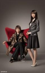 Netflixとフジテレビの共同制作ドラマ『アンダーウェア』に出演する桐谷美玲(右)と大地真央(左)