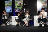 マルチバトルに挑戦する(左から)内山昴輝、川澄綾子、種田梨沙、下野紘