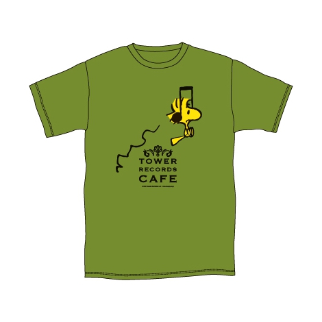 『スヌーピー × TOWER RECORDS CAFE T-shirt 2015(シティグリーン)』(税抜価格:3000円) (C)2015 Peanuts Worldwide LLC www.snoopy.co.jp