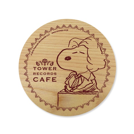 『スヌーピー × TOWER RECORDS CAFE コースター(A、B、C)』(税抜価格:500円) (C)2015 Peanuts Worldwide LLC www.snoopy.co.jp