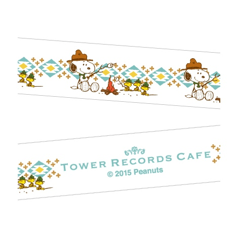 『スヌーピー × TOWER RECORDS CAFE マスキングテープ』(税抜価格:350円) (C)2015 Peanuts Worldwide LLC www.snoopy.co.jp