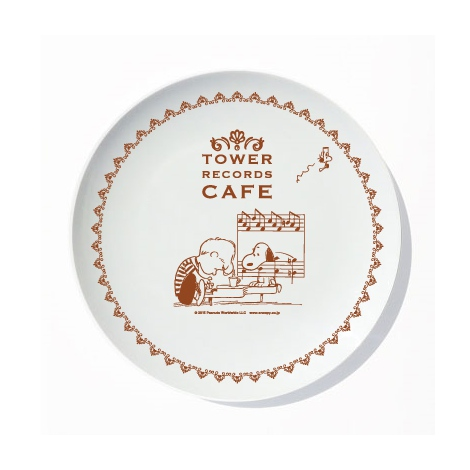 『スヌーピー × TOWER RECORDS CAFE プレート』(税抜価格:1500円) (C)2015 Peanuts Worldwide LLC www.snoopy.co.jp