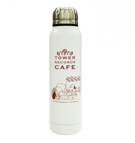 『スヌーピー × TOWER RECORDS CAFE サーモマグ水筒 270ml』(税抜価格:2400円) (C)2015 Peanuts Worldwide LLC www.snoopy.co.jp