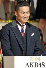 AKB48の著名人プロデュース公演のメンバーを発表した田中将大投手(写真は昨年12月撮影) (C)ORICON NewS inc.