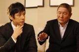 西島秀俊とビートたけしが『Dolls[ドールズ]』での出会いから今の俳優業についてまで語り合う(写真:逢坂聡)