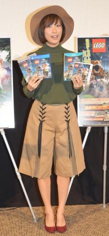 ゲームソフト『LEGO ジュラシック・ワールド』発売記念イベントに出席した佐藤聖羅 (C)ORICON NewS inc.