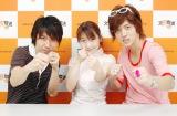 故・松来未祐さん出演の文化放送の番組『有限会社チェリーベル』が11月6日の放送をもって終了(左から)鈴村健一、松来さん、櫻井孝宏