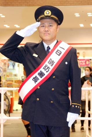 大阪市中央消防署・一日消防署長を務めた辻本茂雄 (C)ORICON NewS inc.