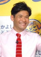 """ダチョウ倶楽部""""キス芸""""体験に感激した照英 (C)ORICON NewS inc."""