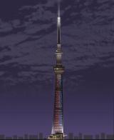 光と闇の戦いをイメージした点灯演出(イメージ)※ライティングの画像はイメージ。実際とは異なる場合があります(C)TOKYO-SKYTREE (C)2015 Lucasfilm Ltd. & TM. All Rights Reserved.