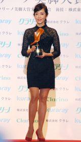 『第13回 クラリーノ美脚大賞2015』表彰式に出席した早見優 (C)ORICON NewS inc.