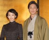 NHK連続テレビ小説『あさが来た』の出演者発表会見に出席した(左から)波瑠、玉木宏 (C)ORICON NewS inc.