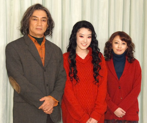 舞台『MORSE-モールス-』出演者(左から)田中健、水上京香、高橋由美子 (C)ORICON NewS inc.