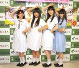 撮影時のエピソードを明かした私立恵比寿中学(左から)真山りか、廣田あいか、松野莉奈、中山莉子 (C)ORICON NewS inc.