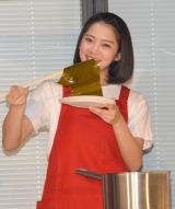『新潟米コシヒカリで作る!ニホンのキホンのゴハン』イベントに出席したNGT48の奈良未遥 (C)ORICON NewS inc.