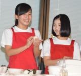 『新潟米コシヒカリで作る!ニホンのキホンのゴハン』イベントに出席したNGT48の(写真)高橋真生、清司麗菜 (C)ORICON NewS inc.