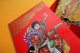 "『「ONE PIECE」歌舞伎フェイスパック』パッケージを開けると""歌舞伎ルフィ""のイラストが描かれている(写真提供 一心堂本舗)"