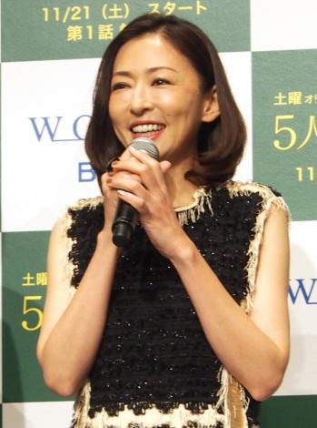 WOWOWの連続ドラマW『5人のジュンコ』完成披露試写会に出席した松雪泰子 (C)ORICON NewS inc.