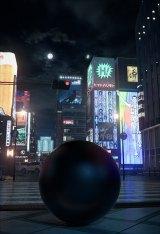 """街中に巨大な球体・通称""""ガンツ玉""""が置かれたティザービジュアルも公開 (C)奥浩哉/集英社"""