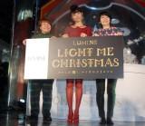 『LUMINE LIGHT ME CHRISTMAS〜私が輝く、ルミネのクリスマス』スタートイベントに出席した(左から)近藤春菜、おのののか、箕輪はるか (C)ORICON NewS inc.