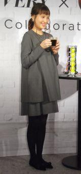 『ネスカフェ ドルチェ グスト ジョビア VERY VERSION』発売記念イベントに出席した青木裕子 (C)ORICON NewS inc.