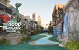 """会場には大自然をイメージしたレッドカーペットならぬ""""リバーカーペット""""が出現(C)2015 Disney/Pixar. All Rights Reserved."""