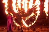 炎が舞い上がるステージに真っ赤な衣裳で登場した小林幸子 (C)ORICON NewS inc.