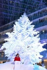 クリスマスイベント『WHITE KITTE』の点灯式に登場した藤本美貴 (C)oricon ME inc.