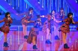 高橋みなみ卒業前のラストシングル「唇にBe My Baby」を初披露したAKB48(C)ytv