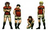 今回発表されたキャラクターたち (左から)赤山濯也、八王子睦、祇園健次、石清水澄明 (C)雨瀬シオリ/講談社