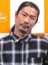 日本PCサービス『ドクター・ホームネット』発表会に出席したパンサー・菅良太郎