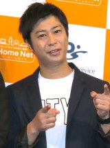 日本PCサービス『ドクター・ホームネット』発表会に出席したパンサー・尾形貴弘