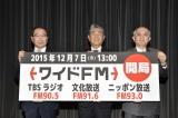 TBSラジオ・文化放送・ニッポン放送「ワイドFM開局記念」会見の模様